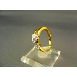 Zlatý dámsky prsteň so zirkónom žlté zlato DP54338Z