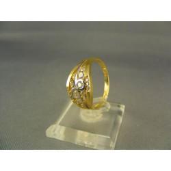 Zlatý dámsky prsteň viacfarebne zlata DP57428V