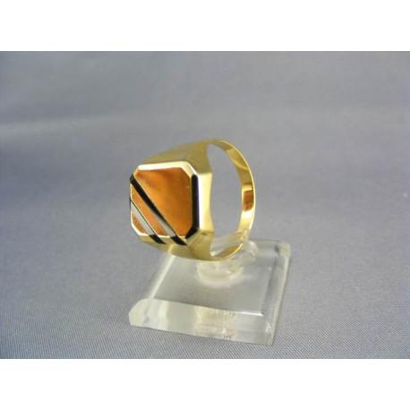 Zlatý pečatný pánsky prsteň