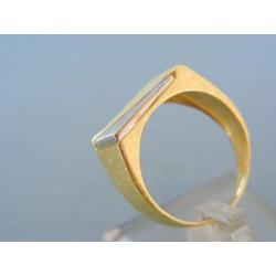 Zlatý pánsky prsteň žlté biele zlato VP64520V