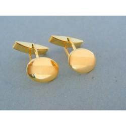 Zlaté manžetové gombíky žlté zlato VMG694Z