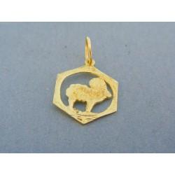Zlatý prívesok znamenie barán žlté zlato VI107Z
