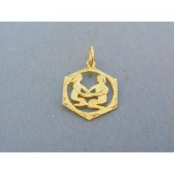 Zlatý prívesok znamenie blíženci žlté zlato VI104Z