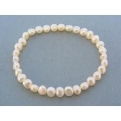 Dámsky náramok zdobený perlami VN2