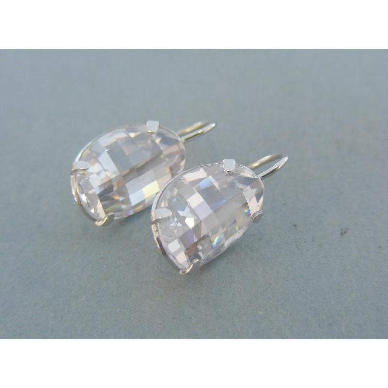 Dámske náušnice biele zlato veľký kameň VA519B fc657fbf2a4