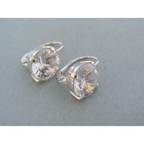 Dámske náušnice biele zlato zirkón VA515B 4ba0707ec66