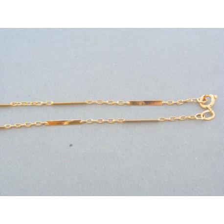 a2fcd775d Pekná zlatá retiazka žlté zlato očká platničky DR46429Z