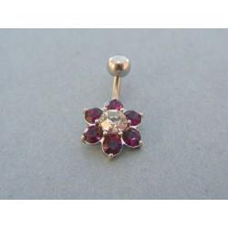 Piercing farebný kvet ch. oceľ VO222
