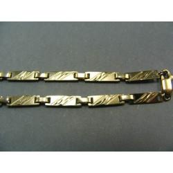 Zlatá retiazka platničky žlté a biele zlato VR451175