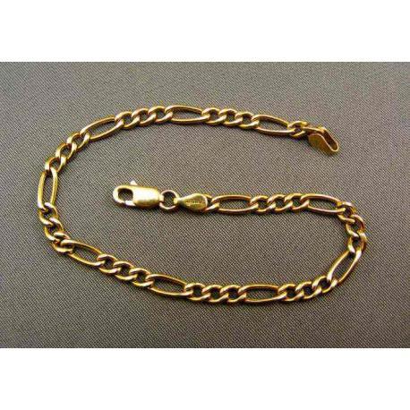 Zlatý náramok vzor figaro zo žltého zlata