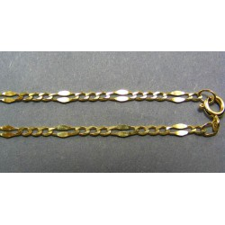 Zlatá retiazka žlté zlato malé očka spojené malými platničkami VR45401
