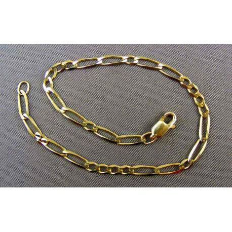 Zlatý náramok netradické figaro