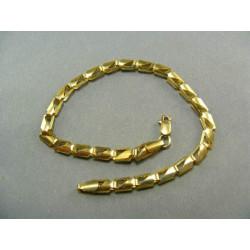 Zlatý náramok žlté zlato s výrezom DN19405Z