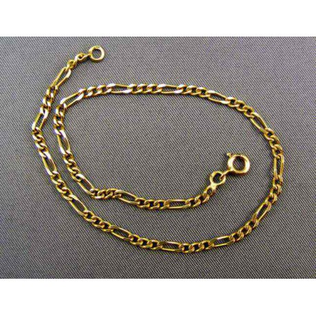Zlatý náramok vzor tenké figaro
