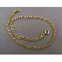 Zlatý náramok vzor tenké figaro VN22345