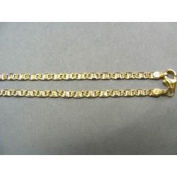 Zlatá retiazka vzorovaná VR45554