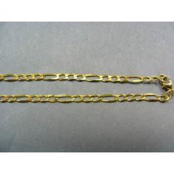 Zlatá retiazka jemný vzor figaro VR45405