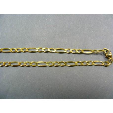 Zlatá retiazka vzor figaro