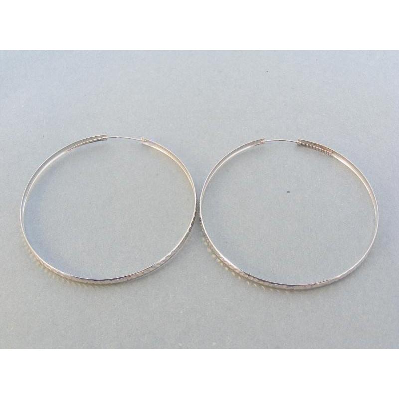 Veľké náušnice kruhy biele zlato DA409B c90d02bd939