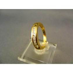 Zlatý dámsky prsteň vyrezávaný žlté zlato VP56278Z