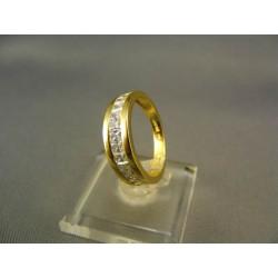 Zlatý prsteň s malými zirkónikmi žlté zlato VP55313Z