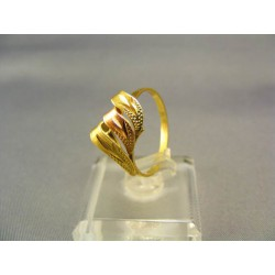 Zlatý prsteň s vlnami viacfarebné zlato VP56186V