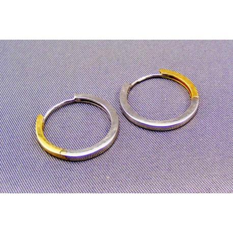 Zlaté náušnice dvojfarebné kruh