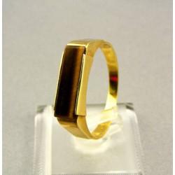 Zlatý pánsky prsteň s kameňom tigrie oko VP67445Z