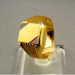 Zlatý pánsky prsteň pečatný žlté zlato VP67614Z