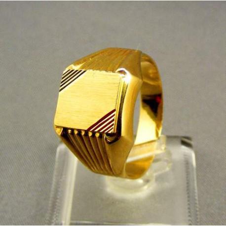 Zlatý pečatný pánsky prsteň žlté zlato