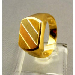 Zlatý pánsky prsteň z trojfarebného zlata
