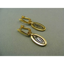 Zlaté náušnice dvojfarebné zlato VA396V