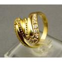 Zlatý dámsky prsteň okuzľujúci zirkón žlté zlato VP54478Z