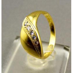 Zlatý dámsky prsteň s leskom žlté zlato  VP55327Z