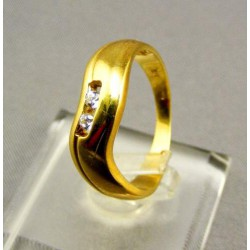 Zlatý dámsky prsteň jednoduchý žlté zlato VP54385Z