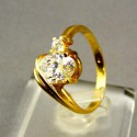 Zlatý prsteň žlté zlato zaujímavy dámsky VP53295Z