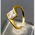 Zlatý dámsky prsteň s priehľadným kamienkom žlté zlato VP53255Z