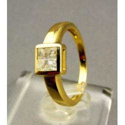 Zlatý dámsky prsteň žlté zlato zirkón VP53297Z