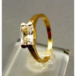 Zlatý dámsky prsteň s kamienkom žlté zlato VP57248Z