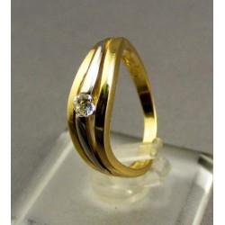 Zlatý dámsky prsteň zlato žlté biele VP53300V