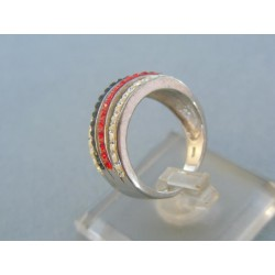 Strieborný prsteň dámsky kamienky VPS53455