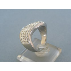 Strieborný prsteň dámsky kamienky VPS58856
