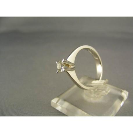 Diamantový prsteň zlato biele