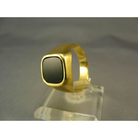 Zlatý pánsky prsteň s onyxom