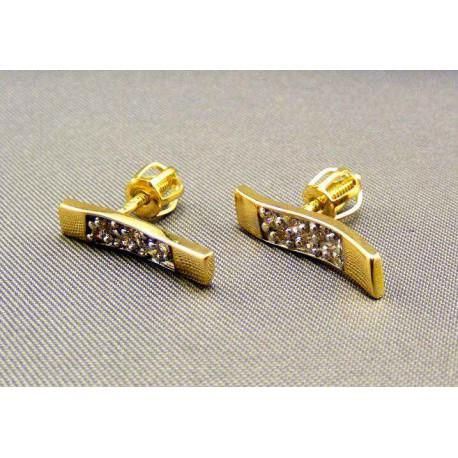 Zlaté náušnice s kamienkami
