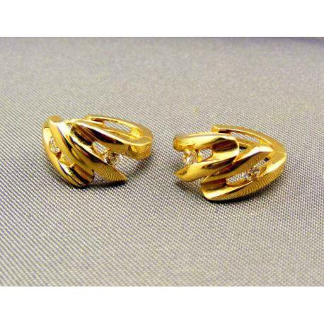 Zlaté náušnice žlté zlato