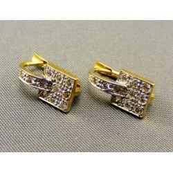 Zlaté náušnice v tvare kabeliek VA284