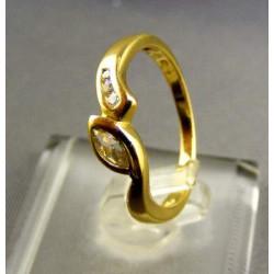 Zlatý dámsky prsteň žlté zlato kamienky zirkónu VA51220Z