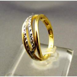Zlatý dámsky prsteň viacfarebné zlata VP56374V