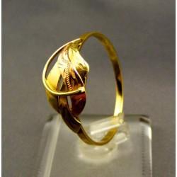 Zlatý dámsky prsteň žlté, červené zlato vzorovaný VP73256V